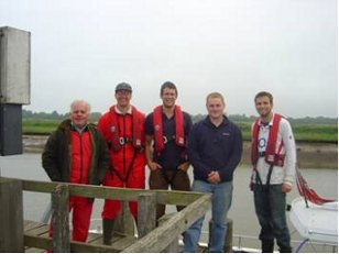 L - R: Stuart Bacon (Suffolk Underwater Studies, Project Advisor), David Sear (University of Southampton, Project Leader), Adam Cross (EMU Ltd Senior Hydrographic Surveyor), Ian Chambers (Skipper), Ed Hendon (EMU Ltd Project Manager).